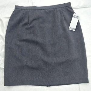 Perfect Work Skirt! Dress Barn Grey Skirt NWT